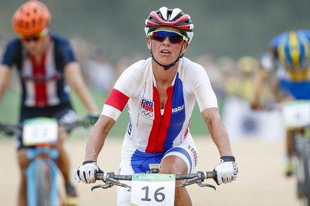 Kateřina Nash krátce po dojezdu do cíle olympijského závodu.
