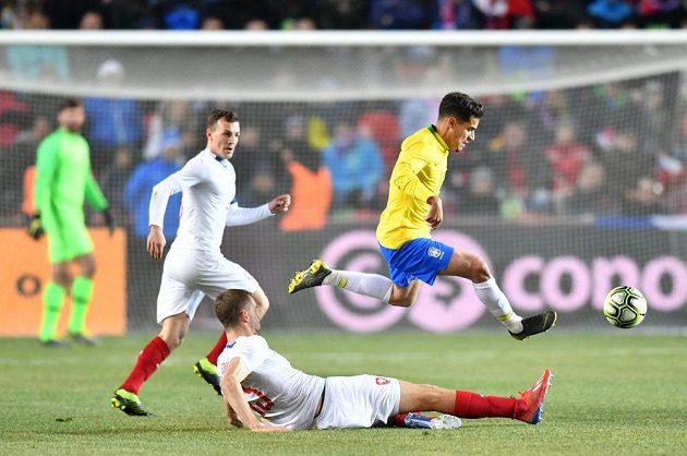 Český tým v prvním poločase Brazilce převyšoval