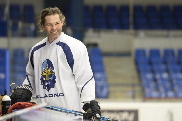 Jaromír Jágr trénoval i rozdával úsměvy.