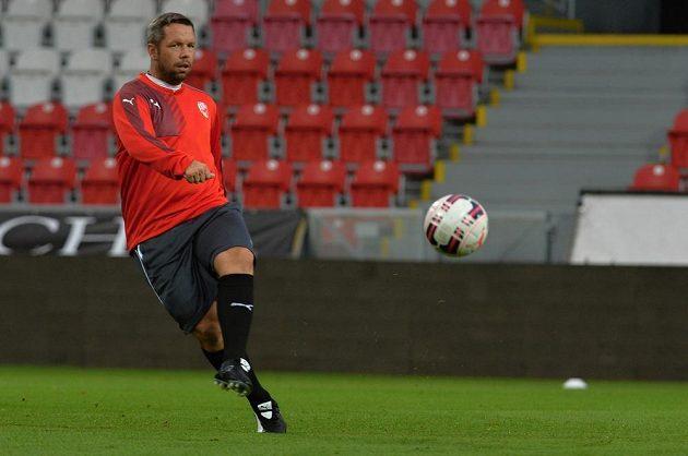 Asistent plzeňského kouče Pavel Horváth na středečním tréninku před úvodním utkáním s Vojvodinou Novi Sad.