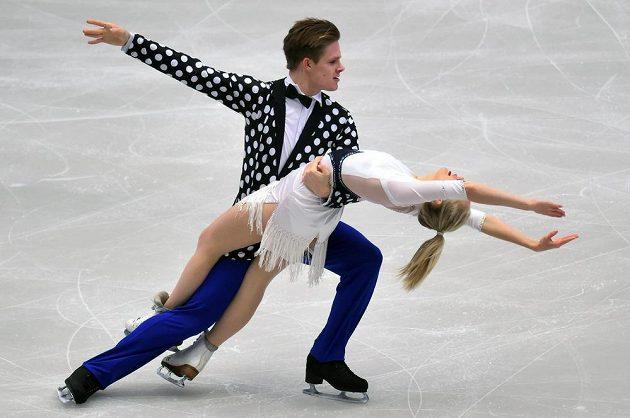 Český taneční pár Nicole Kuzmichová a Alexandr Sinicyn.