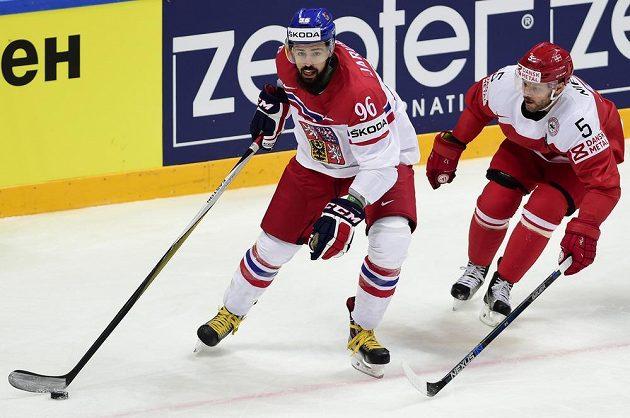 Richard Jarůšek (vlevo) a dánský reprezentant Daniel Nielsen.