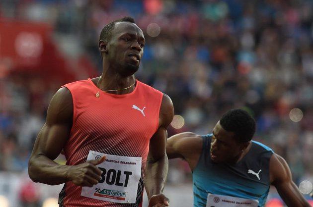 Jamajčan Usain Bolt v Ostravě.
