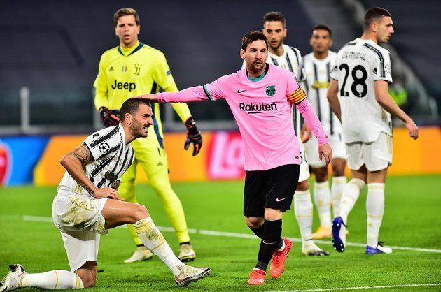 Lionel Messi v zápase Ligy mistrů proti Juventusu