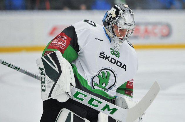 Brankář Mladé Boleslavi Jan Růžička během utkání Tipsport extraligy.
