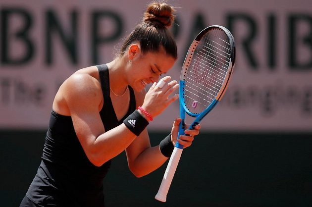 Řecká tenistka Maria Sakkariová během čtvrtfinále French Open.
