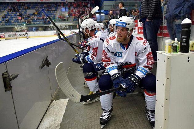 Hokejista Jan Stránský z Chomutova.