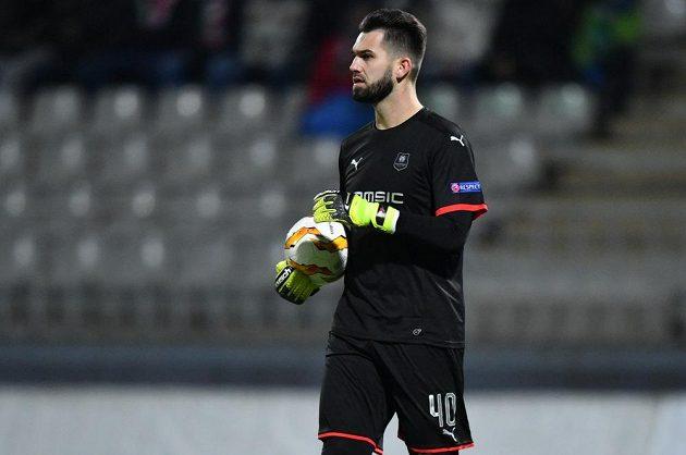 Brankář Tomáš Koubek nechyběl v sestavě Rennes v utkání základní skupiny Evropské ligy na půdě FK Jablonec.