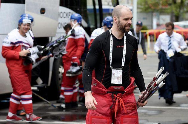 Jakub Klepiš vynechal pondělní duel s Kanadou, na středečním tréninku ale nechyběl.