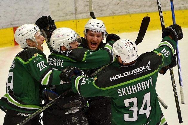 Radost karlovarských hokejistů.