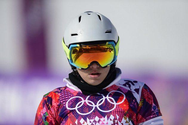 Česká závodnice v paralelním slalomu snowboardistek Ester Ledecká.