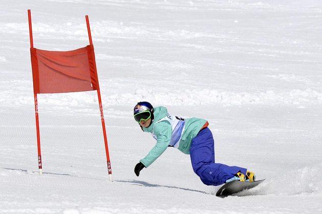 Olympijská vítězka ve snowboardkrosu Eva Samková se v Rokytnici nad Jizerou zúčastnila osmého ročníku exhibičního obřího slalomu RWE KSN Cupu.