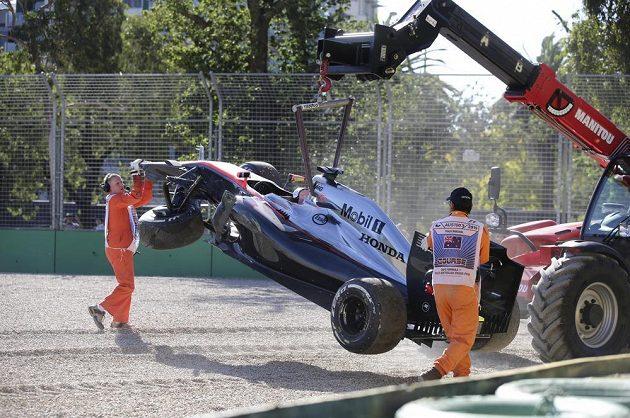 McLaren pilotovaný Kevinem Magnussenem skončil neslavně...