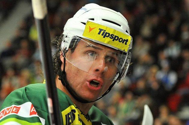 Útočník Radek Duda vstřelil v duelu s Plzní druhý gól Karlových Varů.