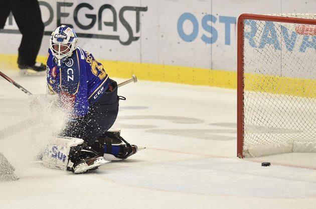 Brankář hokejového Zlína Marek Čiliak.