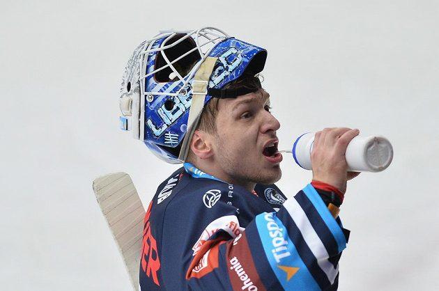 Brankář Liberce Petr Kváča.