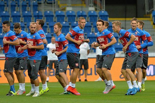 Středeční trénink české fotbalové reprezentace před kvalifikačním zápasem s Kazachstánem.