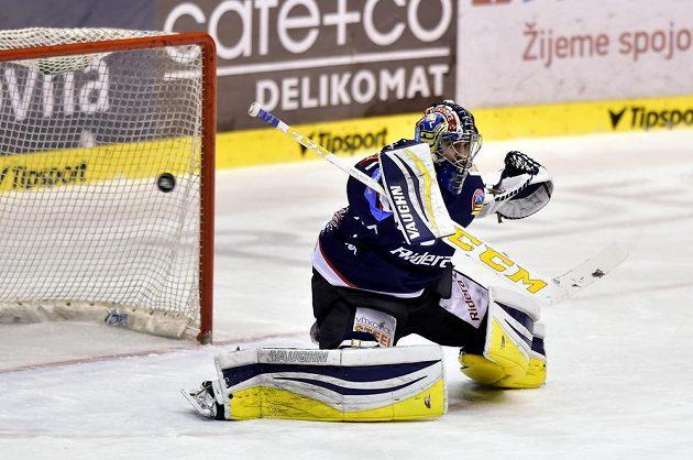 Brankář Patrik Bartošák z Vítkovic.