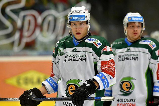 Karlovarský hokejista Tomáš Dujsík.
