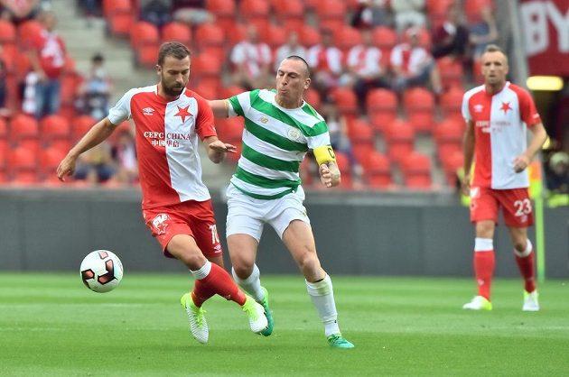Přípravné fotbalové utkání Slavia - Celtic Glasgow.