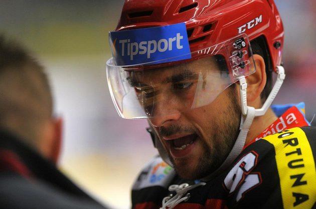 Hradecký útočník Brian Ihnacak.