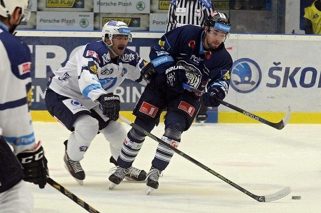Michal Moravčík (vlevo) z Plzně a Michal Birner z Liberce.