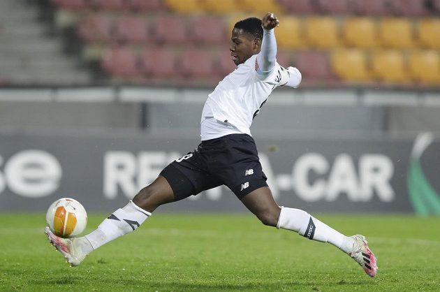 Jonathan David z Lille znamenal pro defenzívu Sparty permanentní nebezpečí.