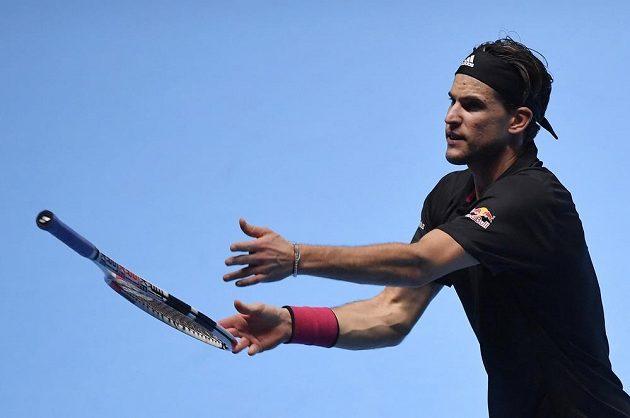 Rakouský tenista Dominic Thiem během semifinále Turnaje mistrů.