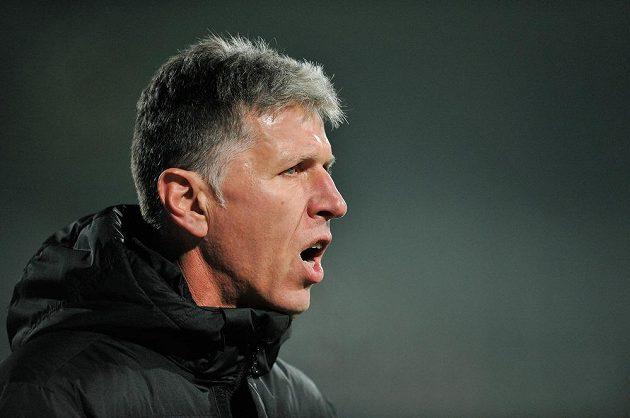Trenér Jablonce Jaroslav Šilhavý během utkání s Teplicemi.