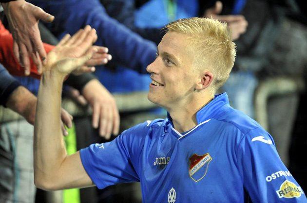 Michal Frydrych v závěru souboje se Slováckem zajistil výhru Baníku.