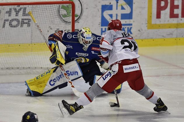 Hokejisté Zlína hostili v pátém kole Tipsport Extraligy Hradec Králové