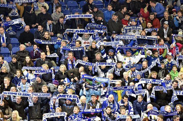 Fanoušci Brna v utkání Ligy mistrů proti Jyväskylä.