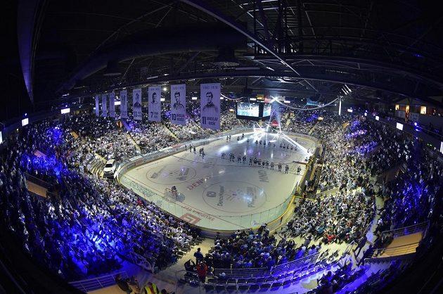 Liberecká aréna před zápasem Bílých Tygrů s Plzní.
