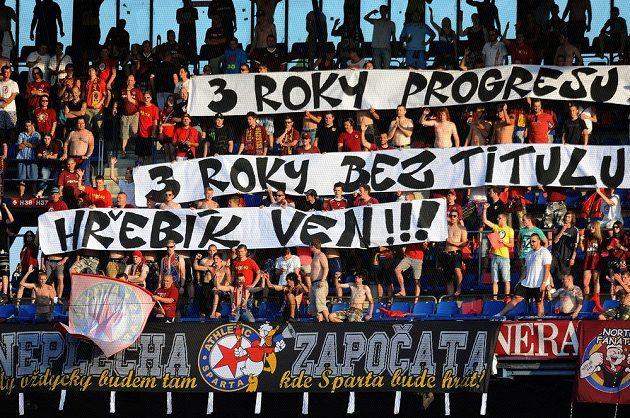 Fanoušci Sparty Praha při utkání 2. kola Gambrinus ligy proti Jablonci.