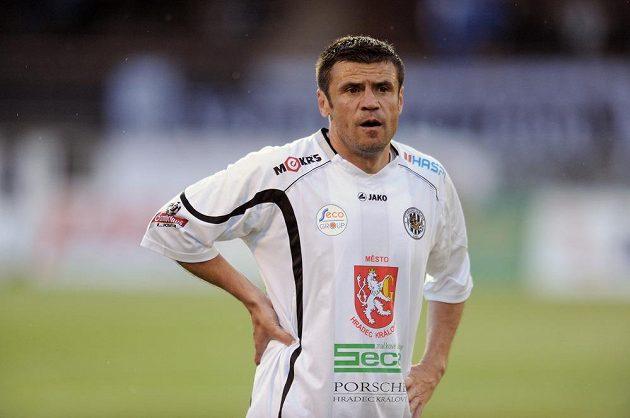 Hradecký útočník Marek Kulič během utkání Gambrinus ligy proti Příbrami.