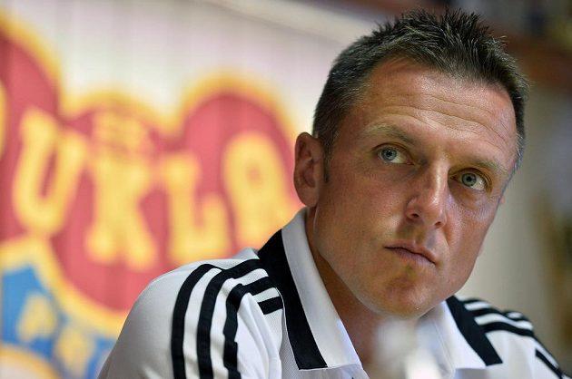 Trenér pražské Dukly Luboš Kozel na předsezónní tiskové konferenci klubu.