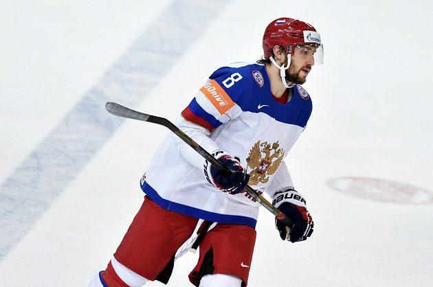 Ruský útočník Alexander Ovečkin během semifinále s USA.