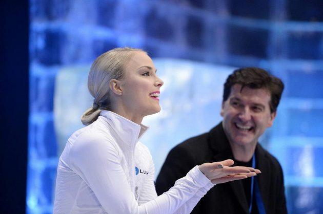 Kiira Korpiová z Finska se na šampionátu objevila poprvé od roku 2012, po krátkém programu je čtvrtá.