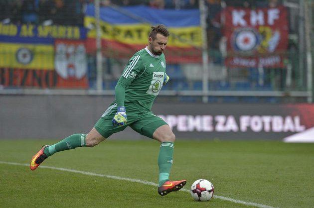 Brankář Mladé Boleslavi Jan Šeda během utkání 20. kola první fotbalové ligy se Spartou Praha.