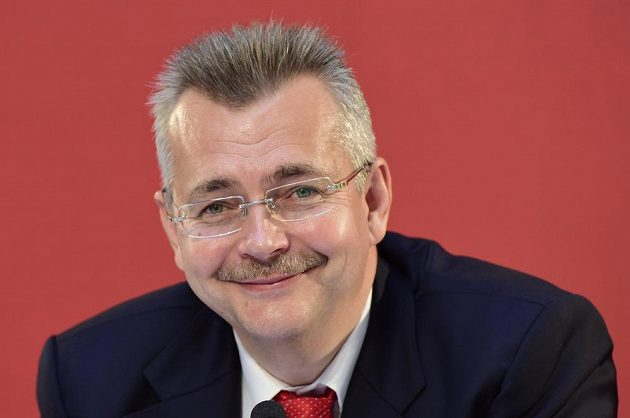 Předseda představenstva Slavie Praha Jaroslav Tvrdík.