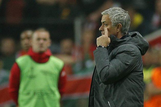 Trenér Manchesteru United José Mourinho během finále Evropské ligy.