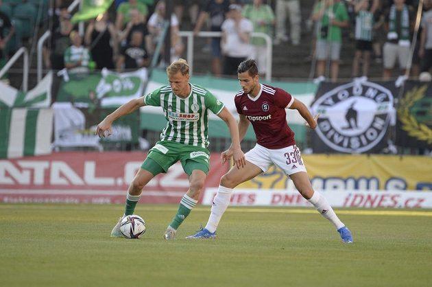 Utkání 4. kola první fotbalové ligy Bohemians Praha 1905 - Sparta Praha 14. srpna 2021 v Praze.