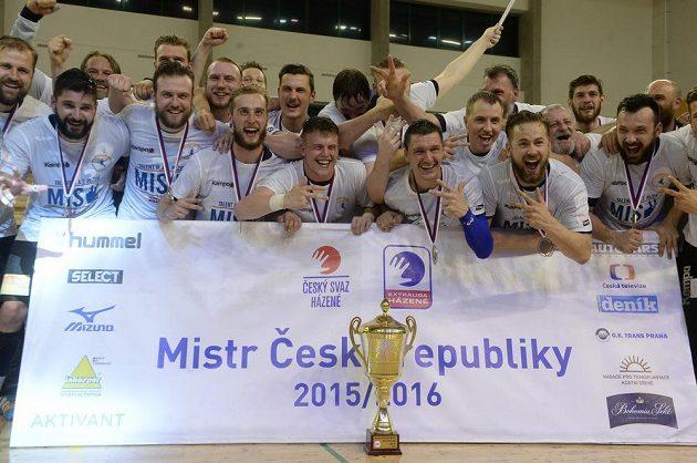 Házenkáři Plzně získali třetí domácí titul v řadě.