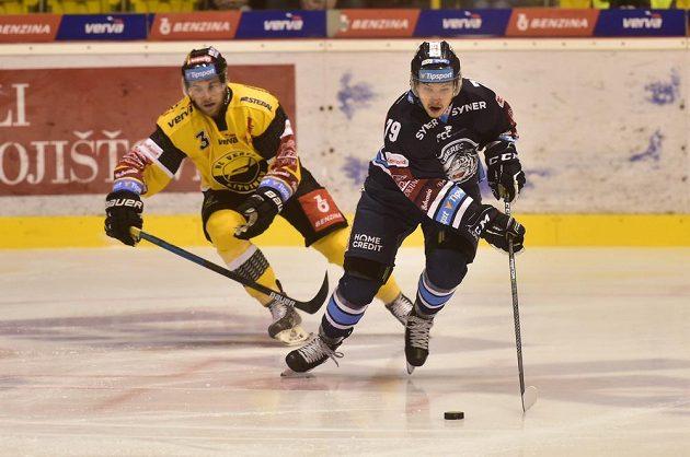 Hokejisté Liberce bojovali o další ligové body na ledě Litvínova