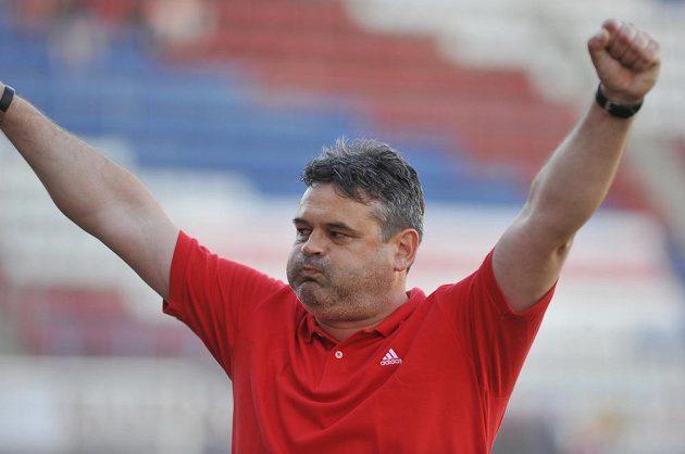 Trenér Olomouce Ladislav Minář na konci utkání, v němž jeho tým vyhrál nad Znojmem.