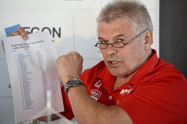 Trenér Petr Novák.
