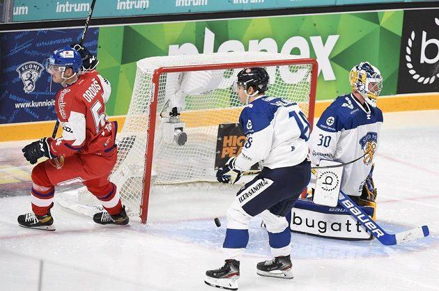 Jan Ordoš zvýšil vedení české reprezentace proti Finsku.