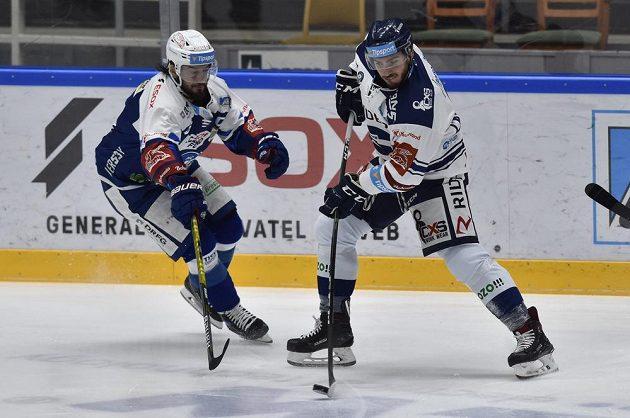 Zleva Martin Zaťovič z Brna a Dominik Lakatoš z Vítkovic.