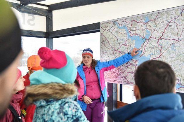 Lipno Ice Marathon - důkladné instruktáže je třeba.