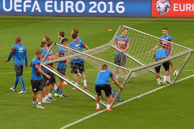 Čeští fotbalisté se v Plzni chystají na kvalifikační souboj s Kazachstánem.